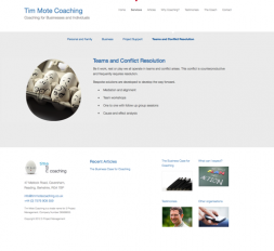 Tim Mote Coaching website