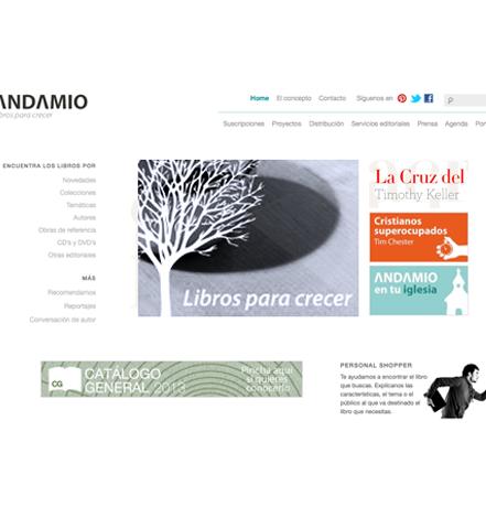 Publicaciones Andamio website