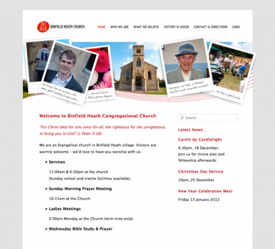 Binfield Heath Church website