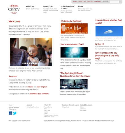 Carey Baptist Church Website