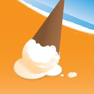 Summer Ice Cream Illustration