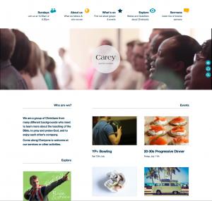 Carey Website Homepage