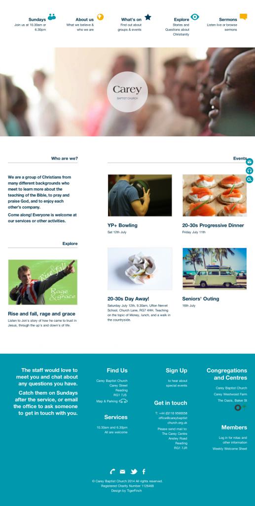 Carey Website Homepage - full