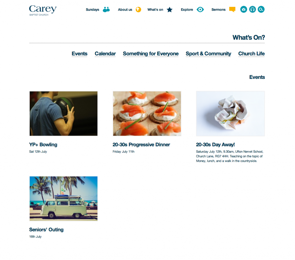 Carey Website Whats On